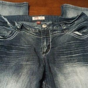 l.e.i Ashley Acid Wash Slim Boot Denim Jean's 15
